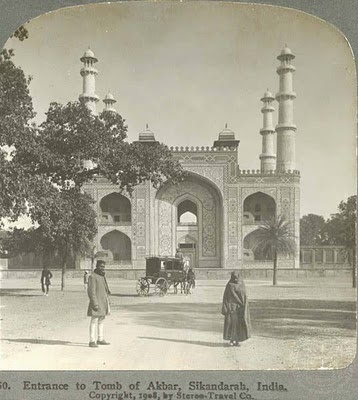 Entrance to the Tomb Of Akbar, Sikandarahbad, India - 1908: Akbar Tomb, Pictures, Ancient India, Tomb 100, The Great, India Leaves