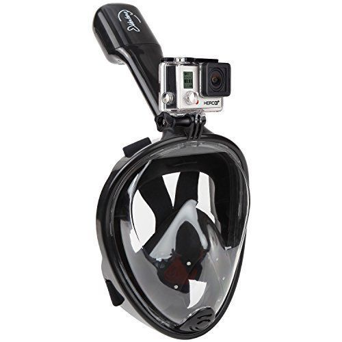 Swimming Full Face Mask Snorkeling GoPro Mount Set 180 View Summer Easy Breath  #SwimmingFullFaceMask