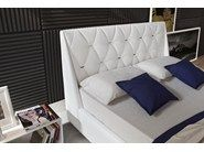 Imitation leather double bed with upholstered headboard DIAMOND by Novaluna
