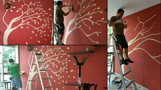 17 best images about como pintar la pared del aula on - Arboles pintados en la pared ...