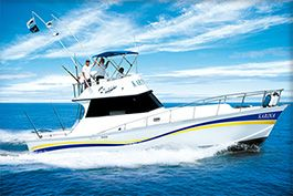 --Karina II--  Capacity: 12 persons. Length: 42 feet. Motors: General Motors; 2 Cummins 315 hp. Speed: 15 knots.