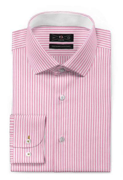 Pink striped 100% cotton Shirt: http://www.tailor4less.com/en-us/men/shirts/3131-pink-striped-100-cotton-shirt