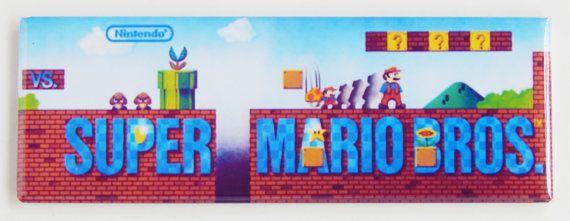 Super Mario Bros Marquee Fridge Magnet on Etsy, $6.25