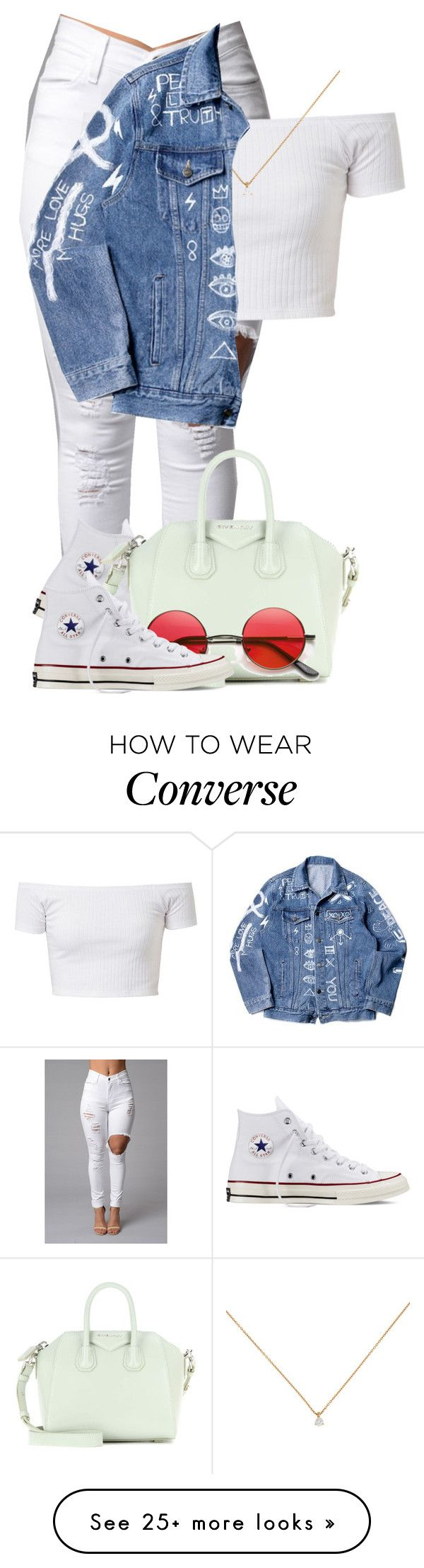 """"""":::"""" by camgueyana on Polyvore featuring Converse, Givenchy, women's clothing, women, female, woman, misses and juniors"""