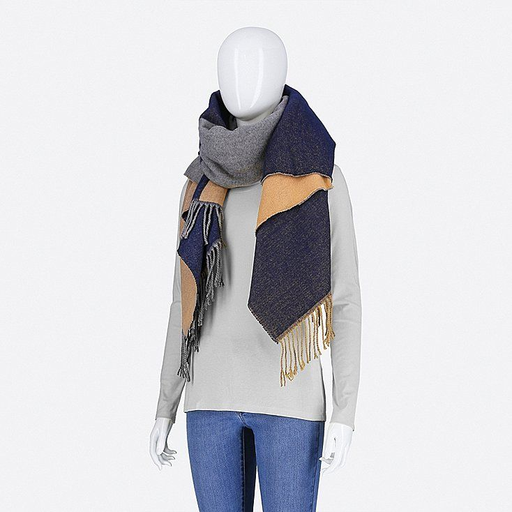 d6c64919b7472 UNIQLO | Women Colorblock 2-Way Stole —> click the link to shop! #stole  #winter #winterfashion #winteroutfits #poncho #fall #fallstyle #falloutfits  ...