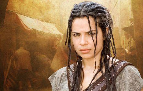 Zuleikha Robinson as Gaia in the HBO series Rome