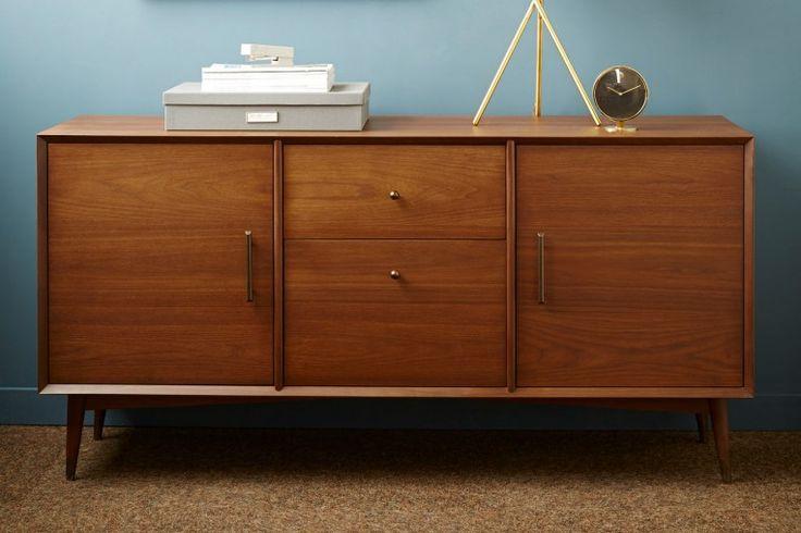 mid century 60 executive credenza west elm workspace west elm workspace with inscape. Black Bedroom Furniture Sets. Home Design Ideas