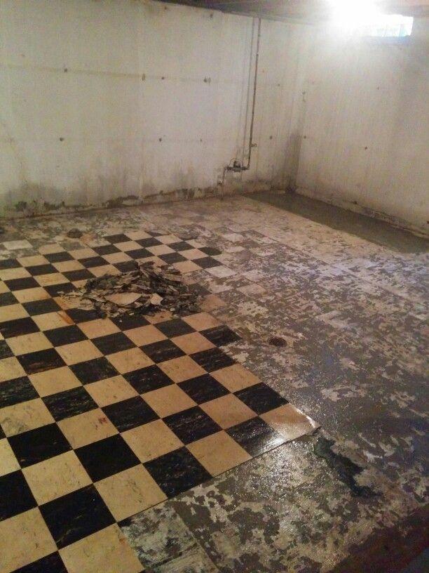 Asbestos Floor Tiles >> Asbestos tile   Basement Remodel   Pinterest   Tile