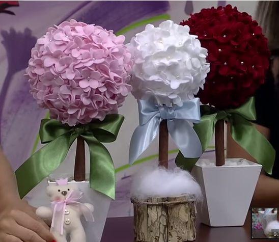Topiaria de Flores de Feltro vídeo como fazer                       vídeo de   RedeSeculo21     Clique no link abaixo e assista ...