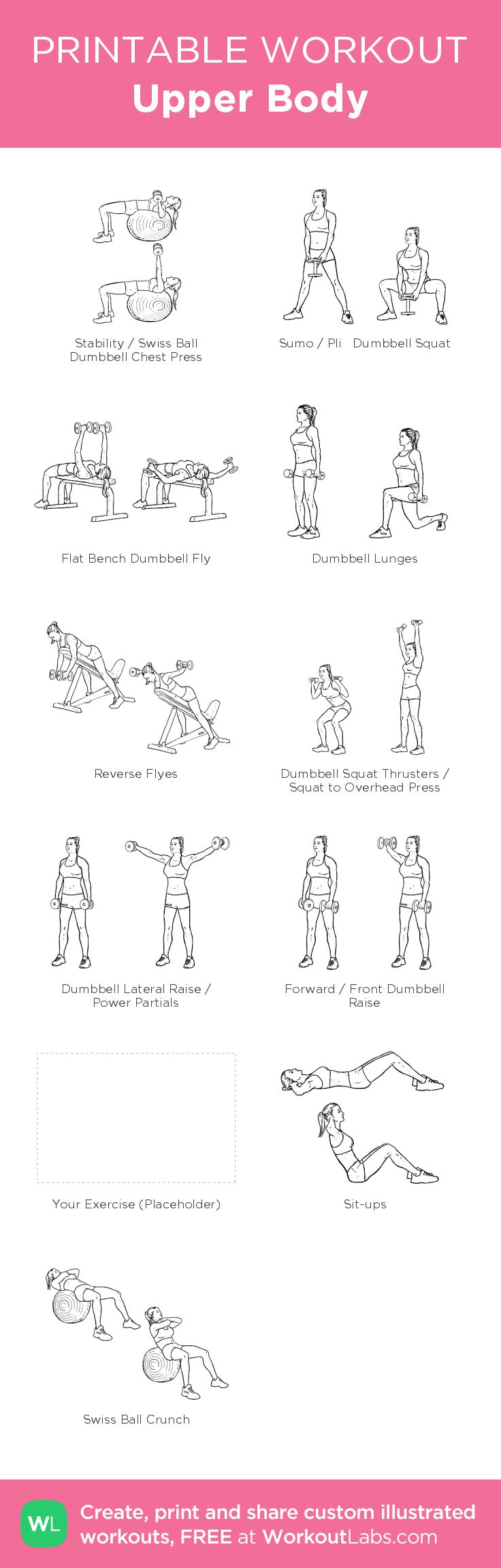 Upper Body: my visual workout created at WorkoutLabs.com • Click through to customize and download as a FREE PDF! #customworkout