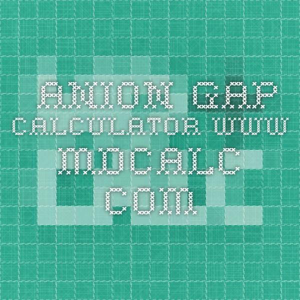anion gap calculator www.mdcalc.com