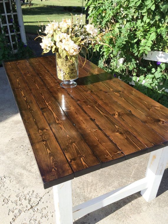 Rustic Farm Table/Farmhouse Table/Hand by EastTNRusticDesigns