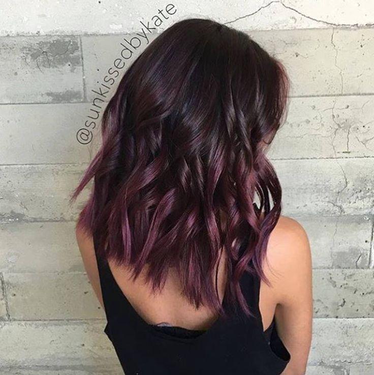 Brilliant 17 Best Ideas About Dark Burgundy Hair On Pinterest Burgundy Short Hairstyles Gunalazisus