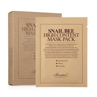 Benton Snail Bee High Content Sheet Mask (Box of 10)