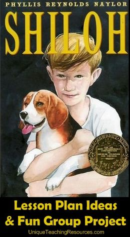 """Unique and extra large dog shaped book report project templates for """"Shiloh"""" by Phyllis Reynolds Naylor."""