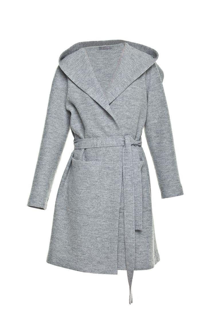 Płaszcz z kapturem z wełny parzonej | PROJEKTANCI \ 303 Avenue Ubrania \ WIĘKSZE ROZMIARY Ubrania \ Okrycia wierzchnie \ Płaszcze Ubrania \ ...