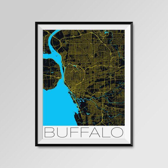 Buffalo map, Buffalo print, Buffalo poster, Buffalo map art, Buffalo city maps  More styles - Buffalo - maps on the link below https://www.etsy.com/shop/PFposters?search_query=Buffalo