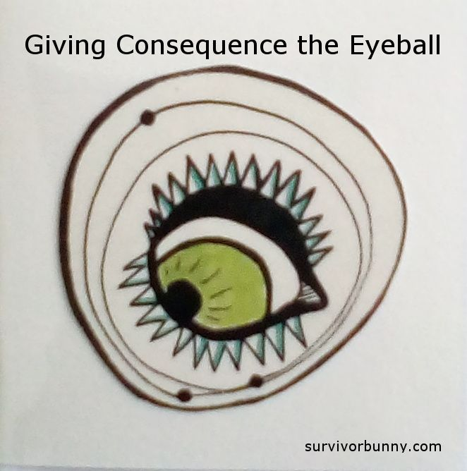 Giving Consequence the Eyeball. A post about bicycle commuting and dumb ways to die. Read more slightly disturbed, definitely random content at surivorbunny.com  #survivorbunny