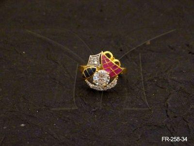 FR-258-34 || MARINE DESIGNED AD FINGER RING