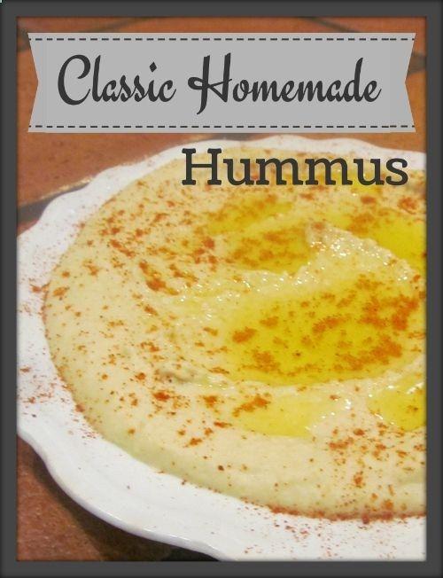 Classic Homemade Hummus .