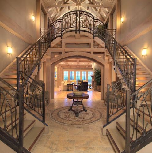 Best Fancy Stair Case And Landing We Did For A Beach House On 400 x 300
