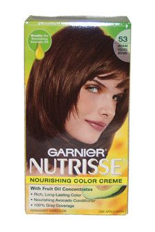 Nutrisse Nourishing Color Creme #53 Medium Golden Brown Garnier 1 Application Hair Color Unisex