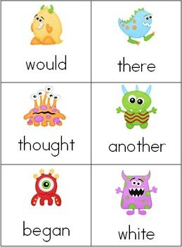 Monster Mash Sight Word Game