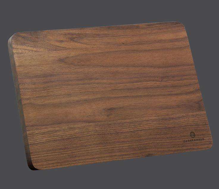 Zassenhaus Magnetmesserblock aus nachhaltig angebautem Nussbaumholz oder Buchenholz, Design-Messerblock mit eingelassenen Magnetstreifen  Länge: 32,5 Breite: 21 Höhe: 13 cm