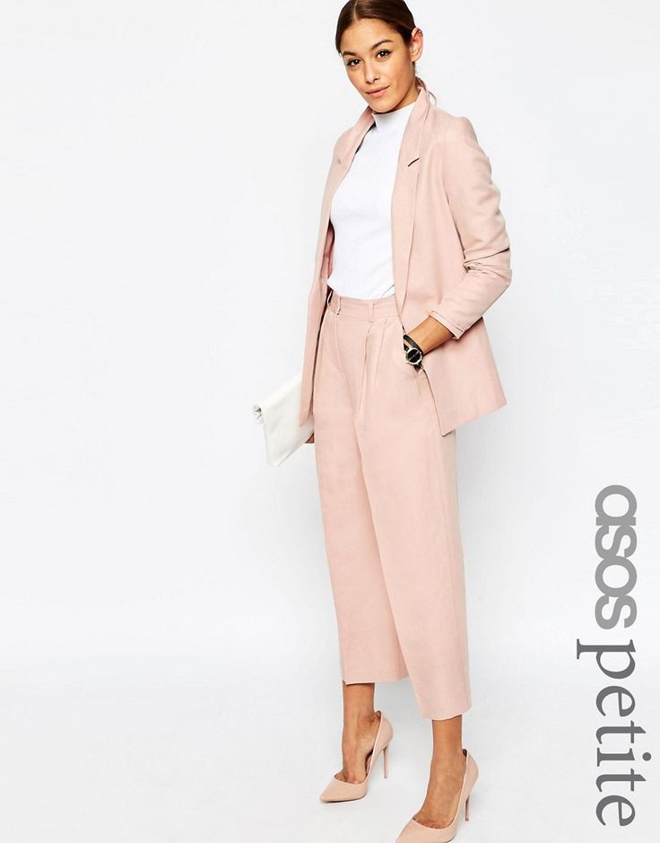 Image 1 of ASOS PETITE Premium Linen-Mix Suit Culottes