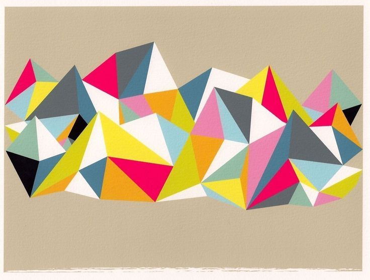 17 Best Images About Abstract Geometric Collage On