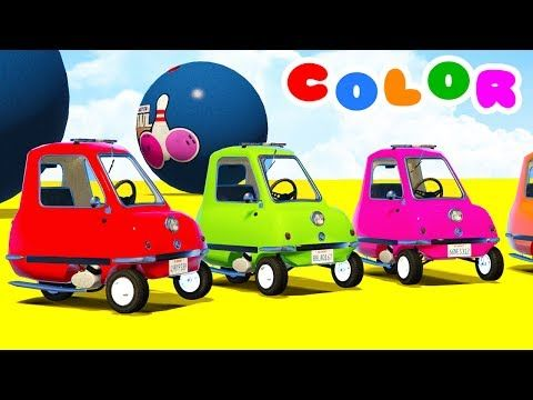 Fun Learn Colors Helicopter & McQueen Cars w Spiderman for Children - Superheroes for kids babies - YouTube