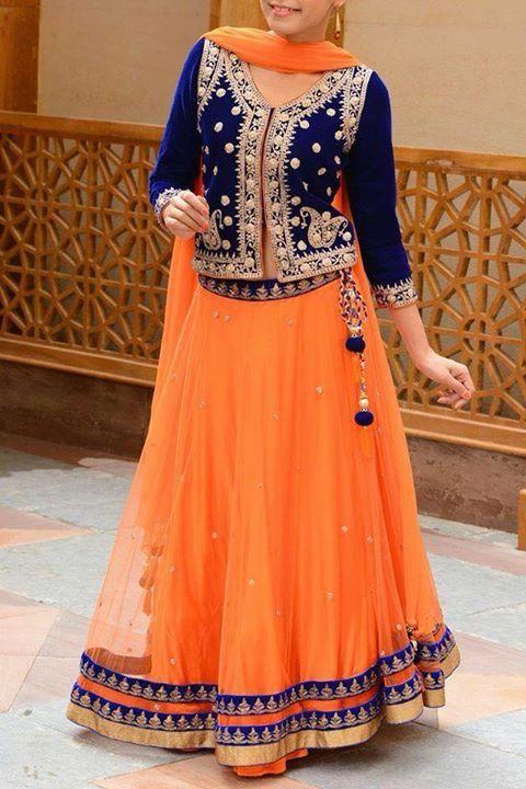 Pakistani dress #orange