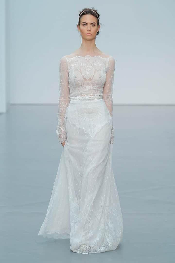Los vestidos de novia con manga larga son ideales para los meses de otoño, invierno, y para las novias que quieran un estilo boho o vintage.