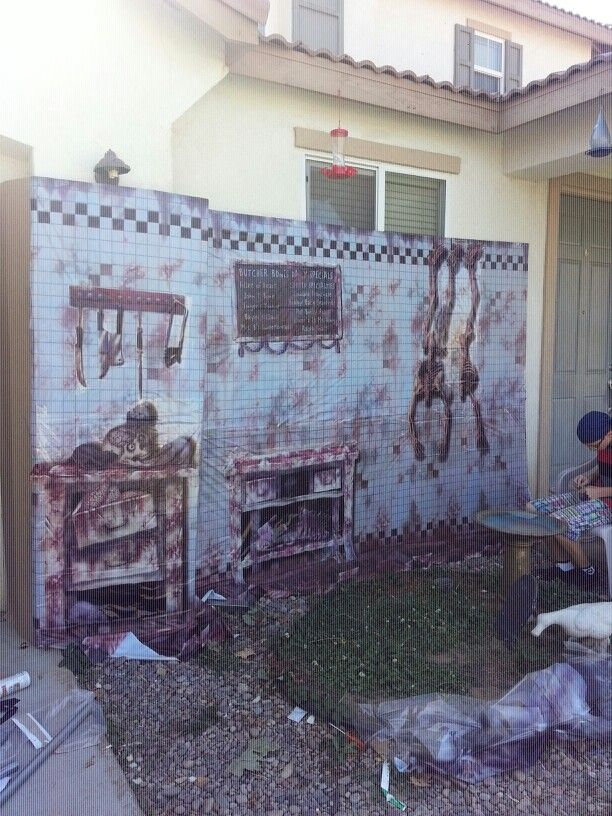 Scene Setters Halloween great for creating a haunted house interior this wall covering scene is actually made up from three separate scene setter products Scene Setters From Spirit Halloween Build A Haunt Pinterest Scene Setters Spirit Halloween And Scene