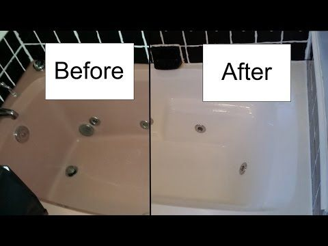 Step by step procedure for refinishing a bathtub with Rustoleum Tub and Tile Refinishing Kit. @mittsdad turns an old bath tub into something that looks brand new. http://www.rustoleum.com/product-catalog/consumer-brands/specialty/tub-and-tile-refreshing-kit/