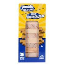 "Bulk Tumble Tower Stacking Wood Block Games, 4¼"" at DollarTree.com - to make colored blocks"