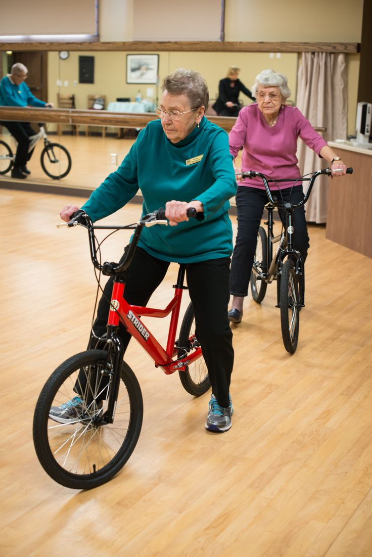 History in the making with the first STRIDER senior learn to ride class. Inner core strength increased with every lap around the room.
