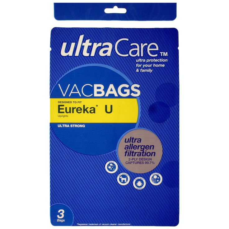 UltraCare Style U Allergen Filtration Vacuum Bags for Eureka® Upright Vacuums 8 pk