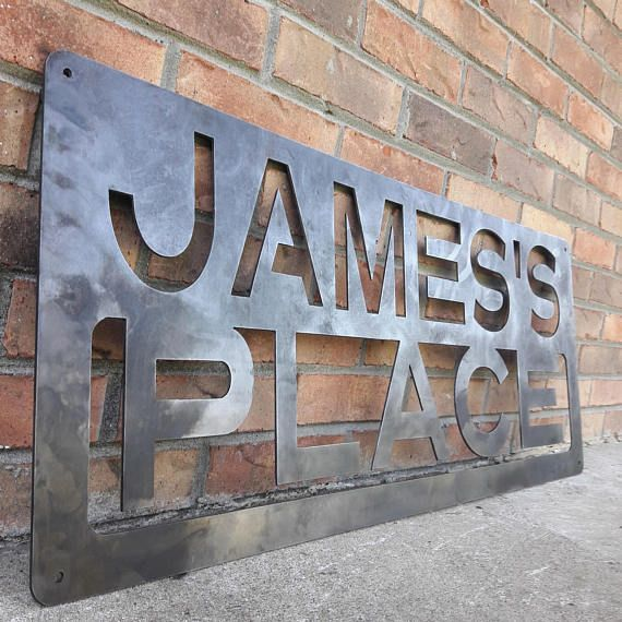 Personalized Custom Metal Sign Bar Lounge Place Lane Cantina Road Decor Family Name Wall Art Custom Metal Signs Custom Metal Name Wall Art