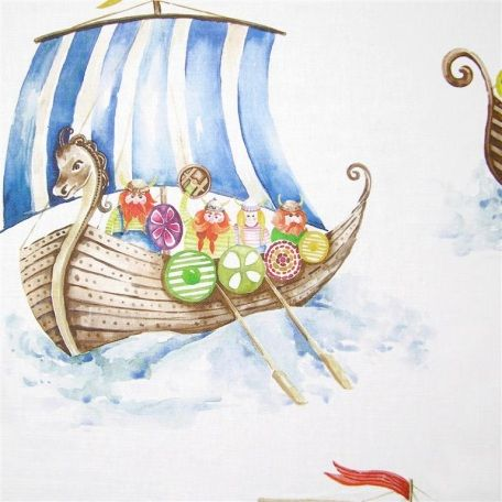 Voyage have this exciting Viking Armada fabric, which gives a slightly different angle to the seaside theme.