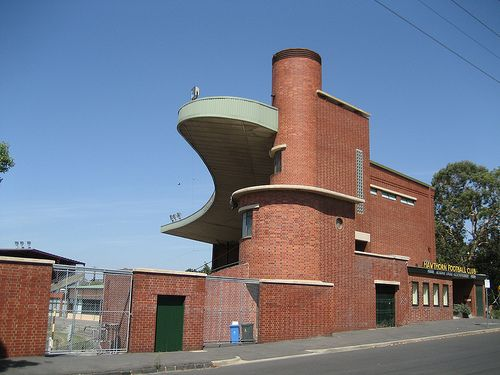 Art Deco Michael Tuck Stand at the Glenferrie Oval, Melbourne, Australia, 1937-8