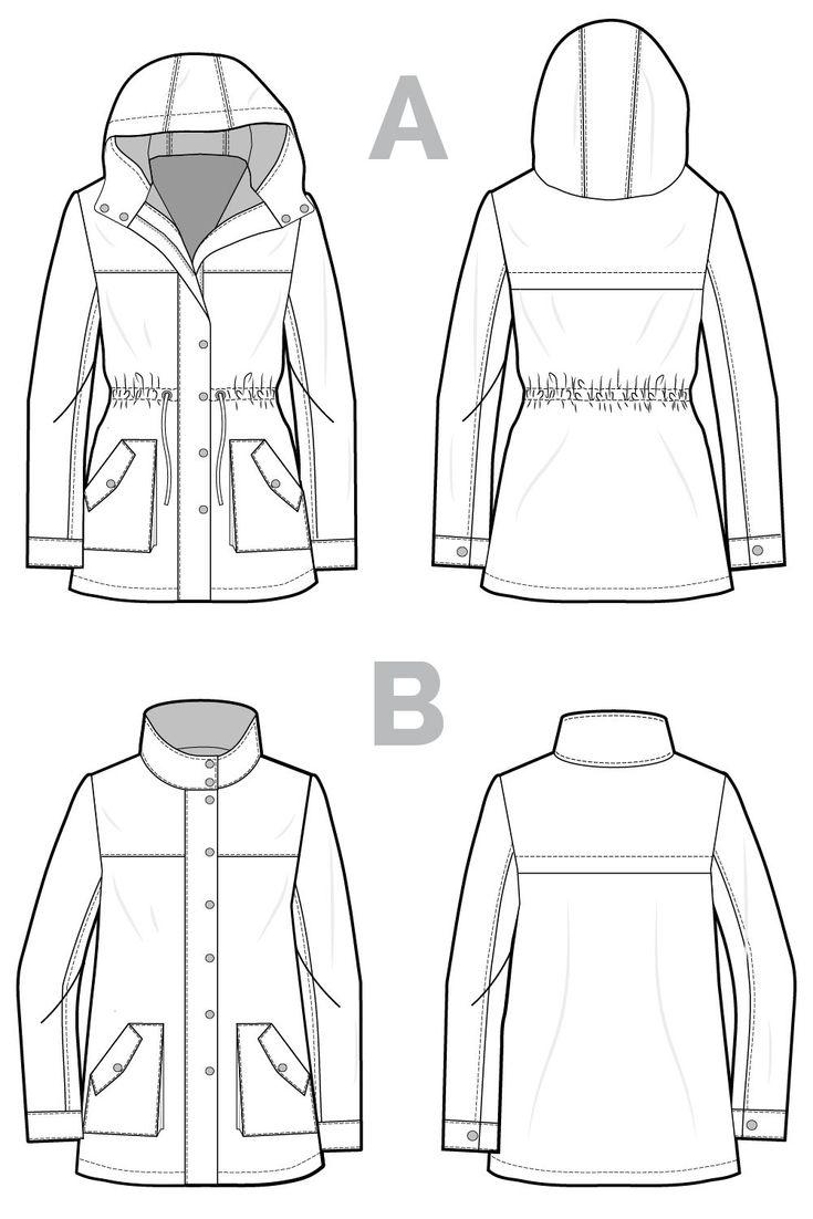 Kelly Anorak // Jacket sewing pattern // Closet Case Patterns  URL : http://amzn.to/2nuvkL8 Discount Code : DNZ5275C