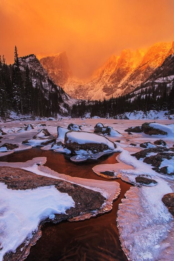 Sunrise Over Dream Lake, Rocky Mountain National Park, by Jacob Routzahn, on 500px.