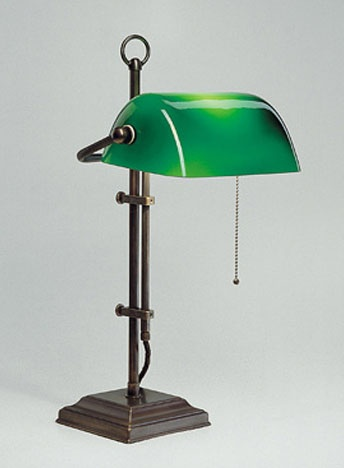 original Emeralite banker's lamp