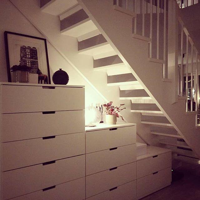 White White White Staircase Ikea Nordli Fado Jotex