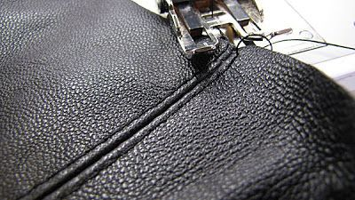Tips for sewing leather on a home machine