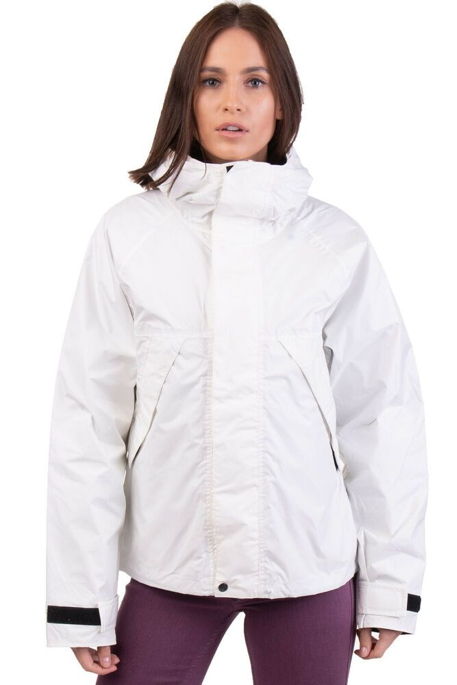 sports shoes d5aae f909a ALBERTO ASPESI Jacket Size M White Mesh Lined Concealed Hood ...