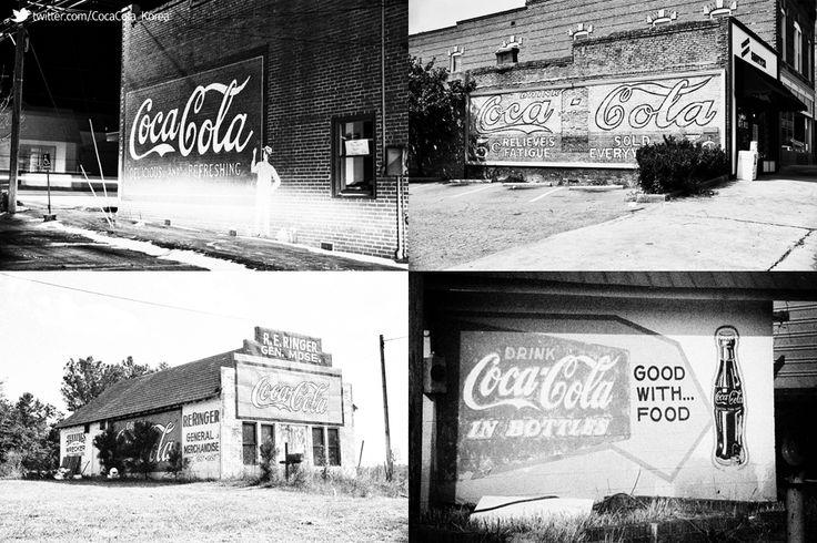 [Coke Code 357] 오래된 약국, 헛간, 주유소 등에 그려진 코카-콜라 벽화를 담은 포토그래퍼, Tim McClain의 사진 입니다. 지나온 시간을 고스란히 담은 빛바랜 사진에서도 여전한 코카-콜라의 매력 느껴지시나요?