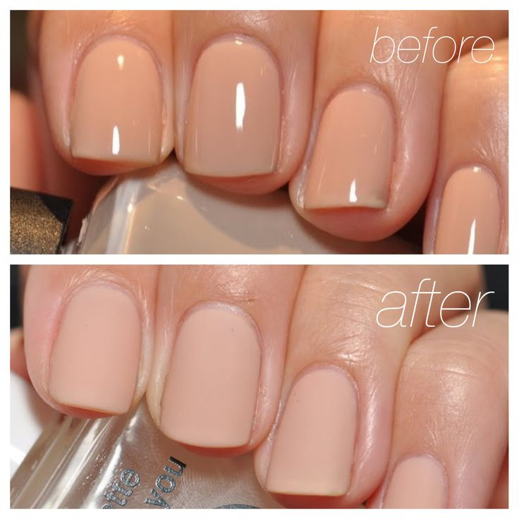 OPI Samoan Sand before and after using Essie Matte About You topcoat. Love these nails!