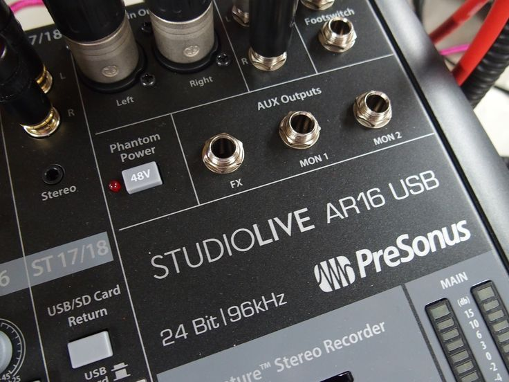 Das PreSonus StudioLive AR 16 hat einen eingebauten USB Recorder und lässt sich als hervorragend klingendes Universal-Mischpult gut einsetzen
